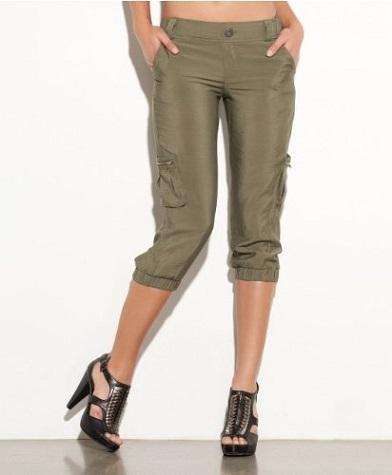 Knee Length Women Cargo Pant