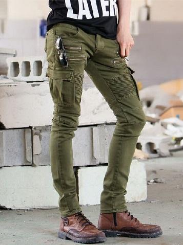 Skinny Punk Men Cargo Jean
