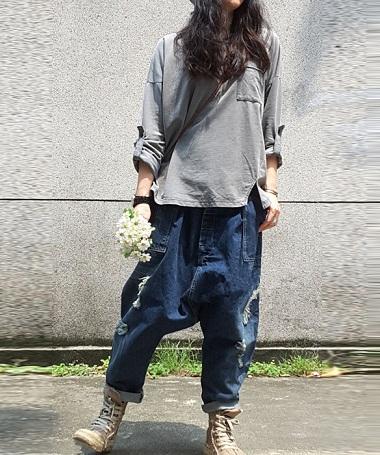 Loose Cargo Boyfriend Women Cargo Jean