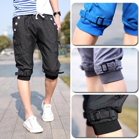Knee Length Men Baggy Cargo Jean