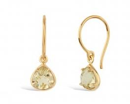 Small diamond drop earrings