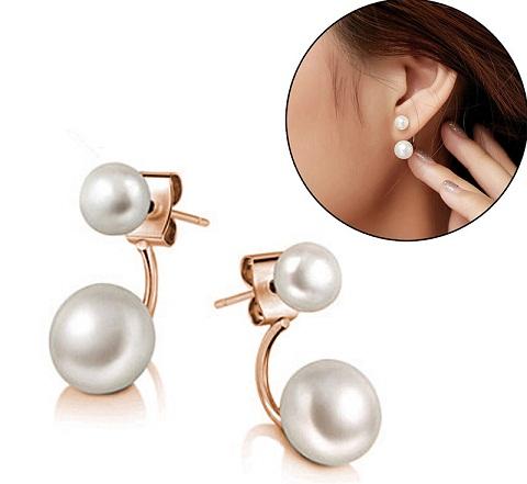 Small double earrings