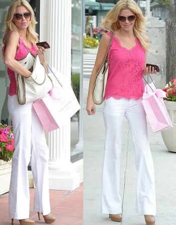 Brandi Glanville shopping