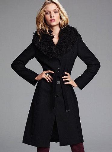 Michael Kors Fur-Collar Leather