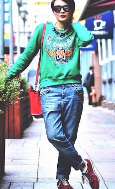 boyfriend sweatshirt jean