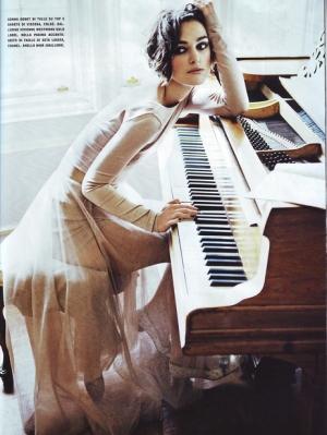 Keira Knightley Poses for Vogue Italia January 2020