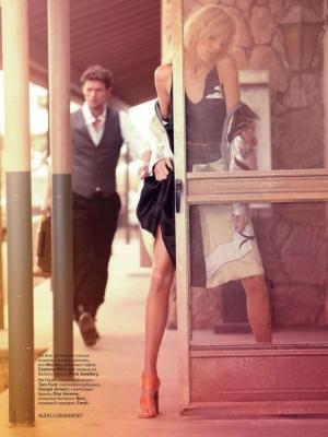 Anja Rubik & Sasha Knezevic for Vogue Russia February 2020