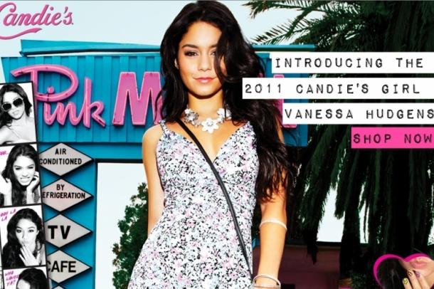 Vanessa Hudgens Is the New Candie's Girl