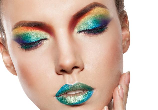 Party Makeup Ideas – Rainbow Eyes