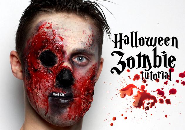 Zombie Makeup Tutorial for Halloween