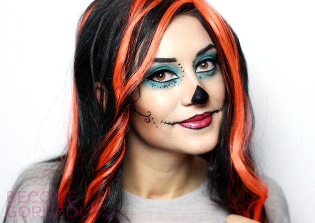 Skelita Calaveras Monster High Makeup Tutorial for Halloween