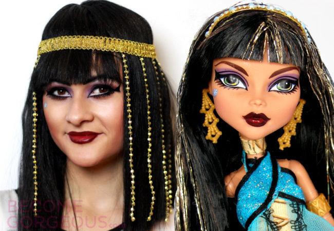 Cleo de Nile Monster High Makeup Tutorial