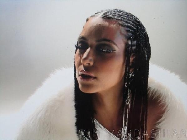 Kim Kardashian Music Video Braids Hairstyle