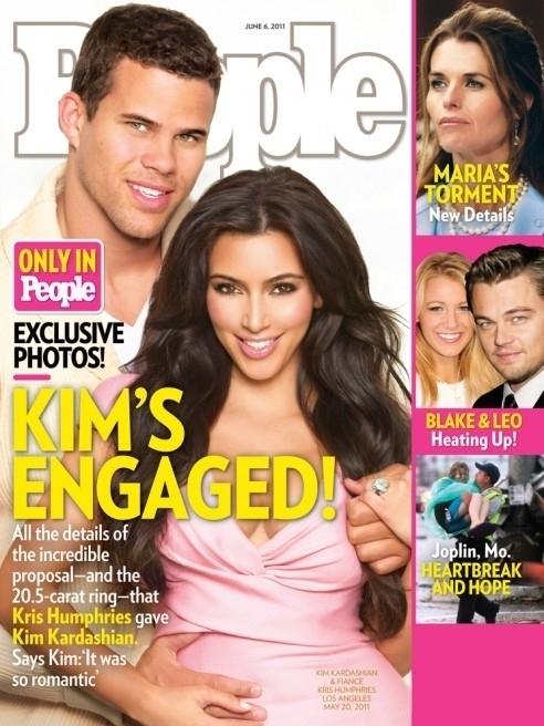 Kim Kardashian Engaged! Shows Off $2M Engagement Ring