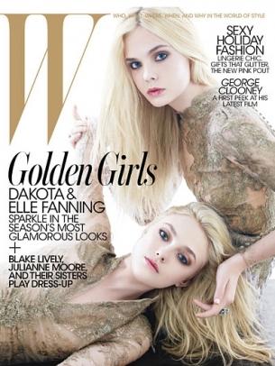 Dakota and Elle Fanning Cover W Magazine December 2020