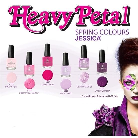 Jessica Cosmetics 'Heavy Petal' Spring 2020 Nail Polishes