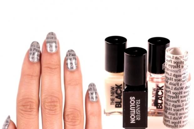 Newsprint Nail Art Set by Sephora