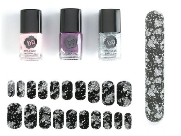 BP Lace and Glitter Nail Sets