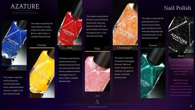 Azature Diamond Nail Polish Collection