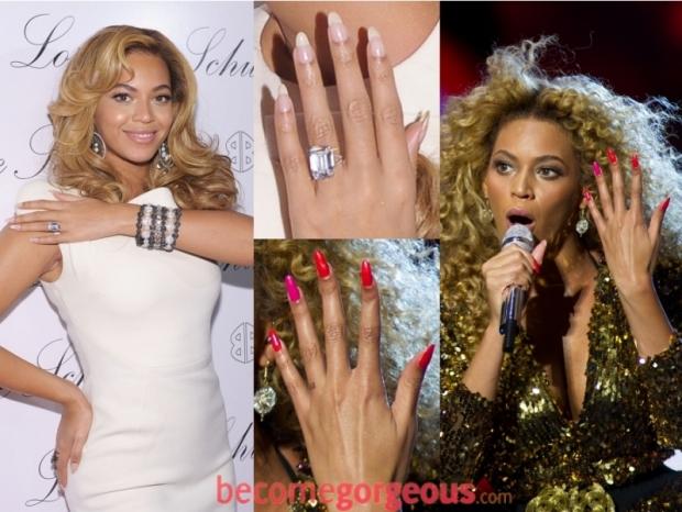 Celebrity Stiletto/Pointy Shaped Nails