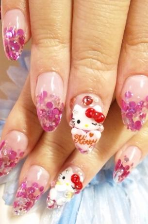 Hello Kitty Nail Art Designs for 2020