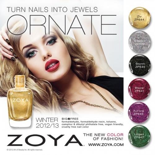 Zoya Ornate Winter 2020/2020 Nail Polishes