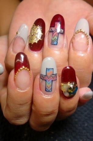 Glam Chic Fall  Nail Art Designs