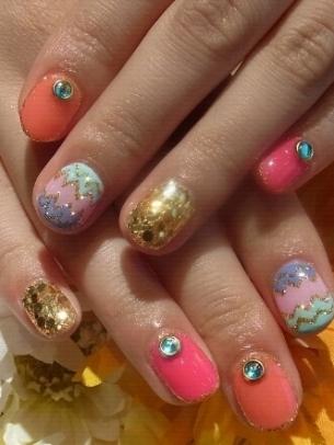Girly Spring Nail Art Ideas