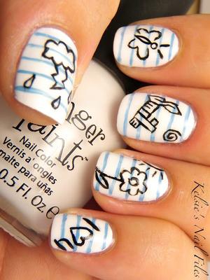 Notebook Drawings Nails