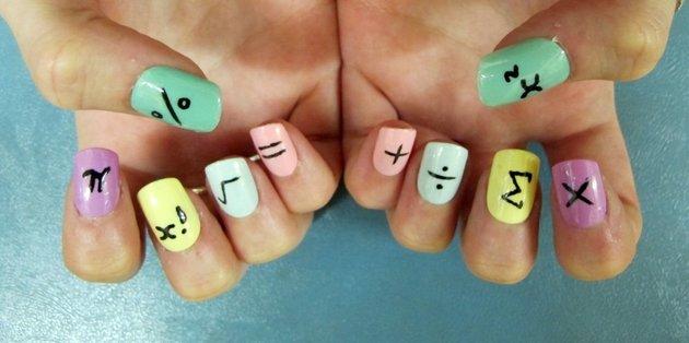 Mathematical Nail Art