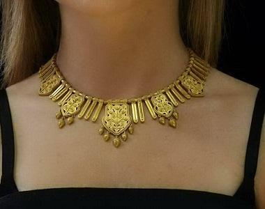 gold-flower-filigree-choker-necklace-9