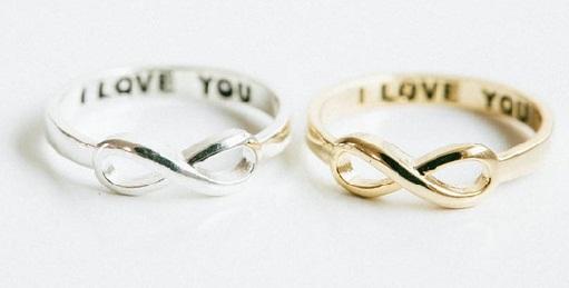 Symbol Infinity Love Couple Rings