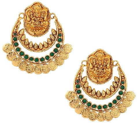 temple-jewellery-designs-temple-laxmi-meta-coin-earrings