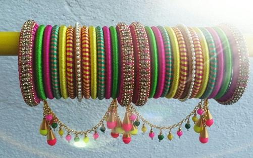 Charms thread bangles