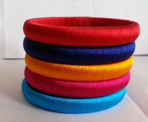 Neon thread bangles