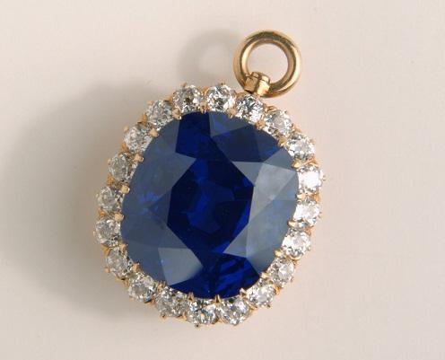 Blue Sapphire Gemstone Stud Pendan
