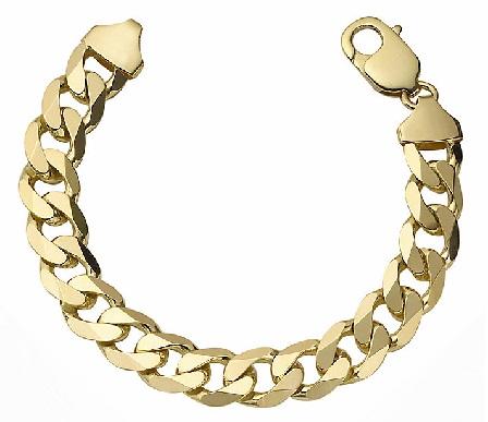 gold-bracelets-for-women-curb-bracelet