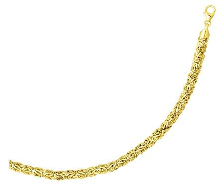 gold-bracelets-for-women-yellow-gold-polished-byzantine-bracelet