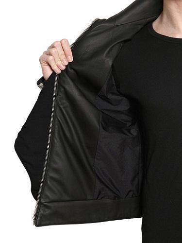 Gareth Pugh Wool Viscose Crepe & Leather Jacket