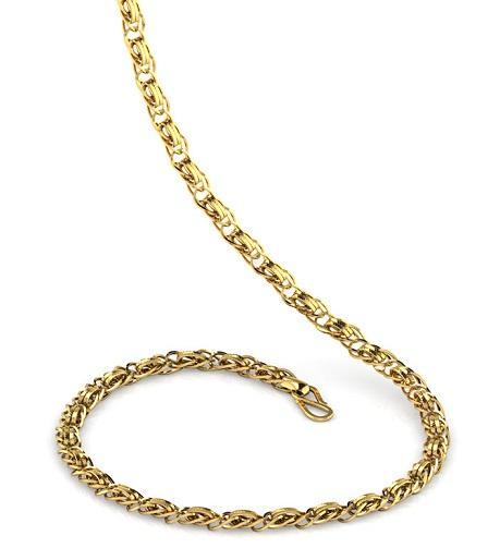 Interwarped Gold Chain