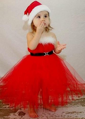 Santa Theme Baby Frock