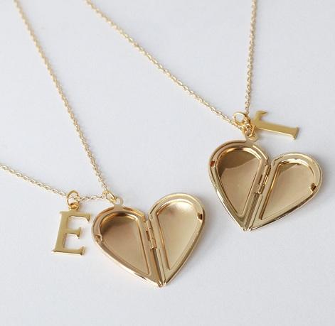 Half Heart Best Friends Lockets