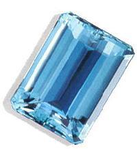 Emerald Cut Aquamarine Stone