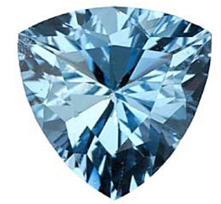 Trillion Cut Aquamarine Gemstone