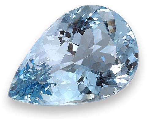 Pear Shape Aquamarine Gemstone