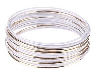Simple Metal White Bangles