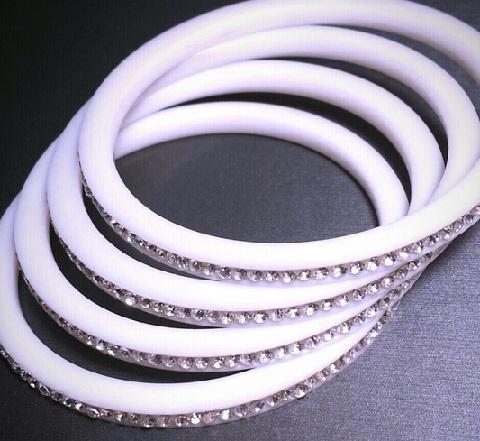 White Plastic Bangles