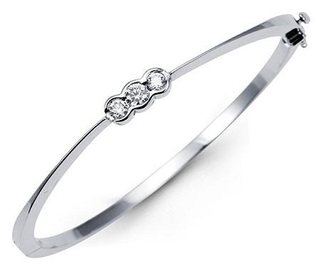 White Gold Bracelet for Girls