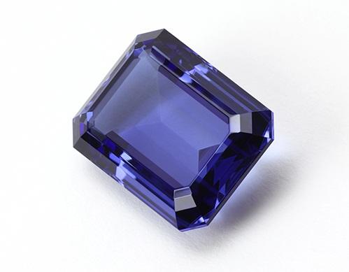The blue tanzanite