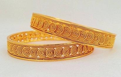 Spiral Design Bangles